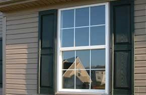 Double hung window from outside