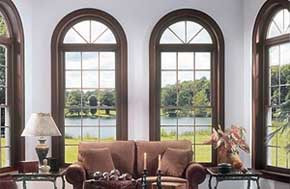 Double hung arched windows