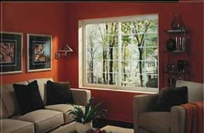 Glider windows in living room of De Pere WI